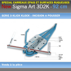 Coupe Carreaux Sigma 092 cm 3D2K