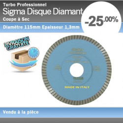 Disque Diamant Turbo Sigma 115mm